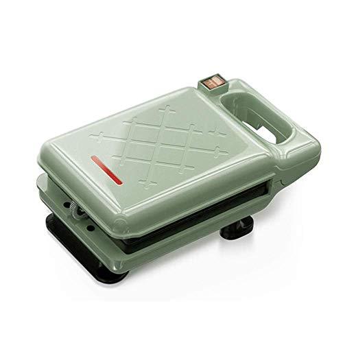 Fabricante de waffle de no palo de hierro de sándwich con luces indicadoras de control de browning Diseño compacto Fácil limpio y tienda para desayuno, almuerzo o bocadillos (color: verde) fangkai77