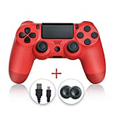 Evaliss PS4 Controller, Wireless Gamepad Controller for Playstation 4 Red