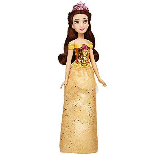 Disney Princess Royal Shimmer Belle Doll, Fashion Doll with Skirt and Accessories, Toy for Kids Ages 3 and Up New Hampshire