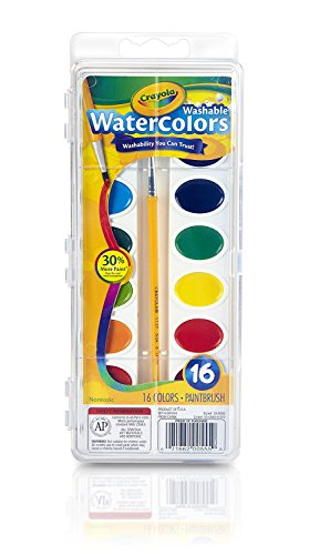 Crayola Washable Watercolors, 16 count (53-0555) Case of 12 Packs