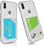 iPhoneXS 高透明 TPUケース iPhoneX TPUケース カード収納 Cavor iPhoneXS 背面 財布型 ケース……