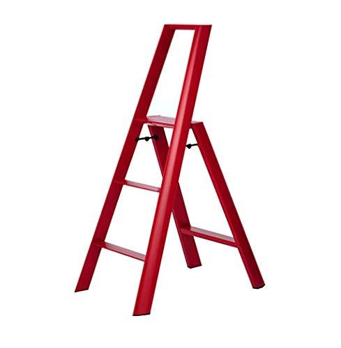 DNSJB Taburete para escalones, Escalera Escalera Plegable para el hogar Taburete para escaleras con Engrosamiento de Aluminio (Color : #2)