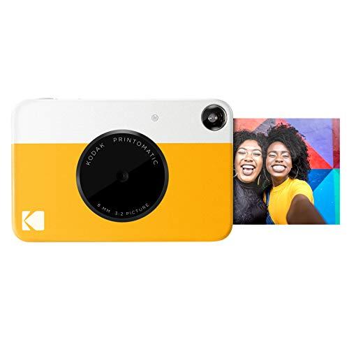Kodak PRINTOMATIC Digitale Sofortbildkamera, Vollfarbdrucke auf ZINK 2x3-Fotopapier mit Sticky-Back-Funktion - Drucken Sie Memories sofort (Gelb)