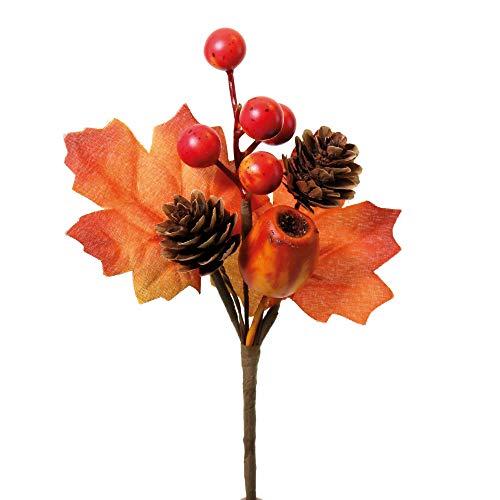 STEFANAZZI 10 pezzi misura 15 cm decorazioni pick artificiali addobbi autunnali bacche foglie acero fai da te foglie d'autunno realistica addobbi per vetrine negozi