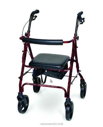 Deluxe Aluminum Rollator, Deluxe Rollator Marble Burg, (1 EACH, 1 EACH) by INVACARE SUPPLY GROUP