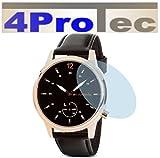 4ProTec I 2 Stück HARTBESCHICHTETE KRISTALLKLARE Bildschirmschutzfolie für Runtastic Moment Classic Displayschutzfolie