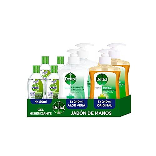 Dettol – Gel Hidroalcohólico Antibacteriano para Manos 50 ml x 4 +...