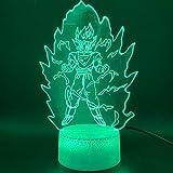 Lámpara De Ilusión 3D Luz De Noche Led Impresionante Dragon Ball Z Goku Super Saiyan Figura Oficina ...