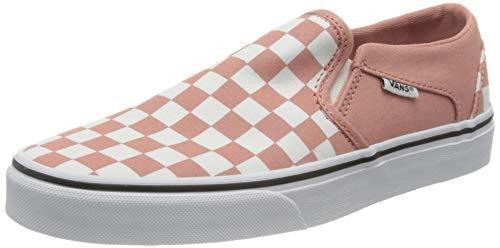 Vans Asher, Zapatillas para Mujer, Tablero de Damas, Color Blanco, 38 EU
