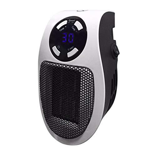 HehiFRlark 110-220 V - Mini calentador eléctrico eléctrico de aire con ventilador caliente, calentamiento rápido, ventilador estufa radiador, habitación más cálida, color blanco UE