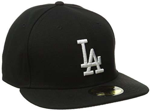 New Era MLB Basic 59FIFTY LA Dodgers - Gorra de béisbol para adulto, color negro, talla 7 1/2