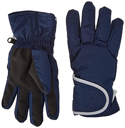 Sterntaler Fingerhandschuhe aus wasserabweisendem Microfleece mit Klettverschluss, Alter: 2-3 Jahre, Größe: 2, Blau (Marine)