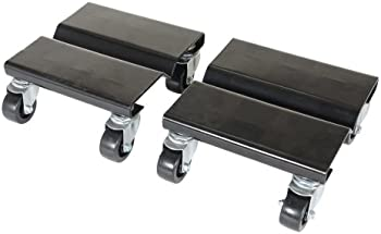2-Pack Vestil 8 Inch Length x 8 Inch Width Steel Dolly Set