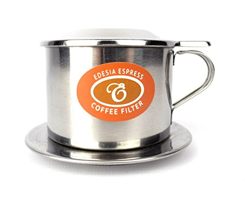 EDESIA ESPRESS - Phin Cà Phê - Filtro de rosca para café vietnamita - Acero inoxidable - Tamaño 6