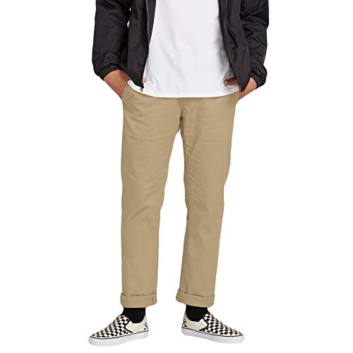 Volcom Men's Frickin Modern Fit Stretch Chino Pant, Khaki, 30W x 34L