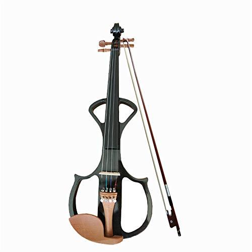 Violino Giuggiola High-End elettronico Violino Adulti Violino Principiante 4/4 for Principianti (Colore : Black, Size : 4/4)
