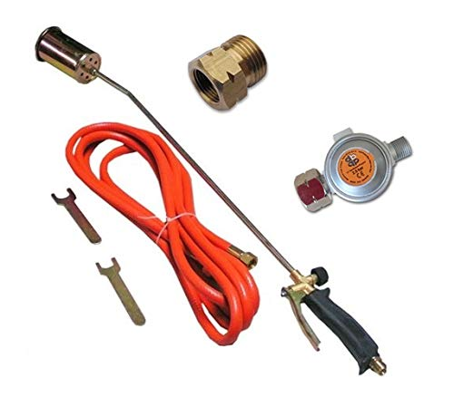 58KW Brenner Gasbrenner Regler 2,5 bar oder 4 bar Abflammgerät Unkrautvernichter Dachbrenner ø60 mm von rg-vertrieb (mit Regler 2,5 bar)