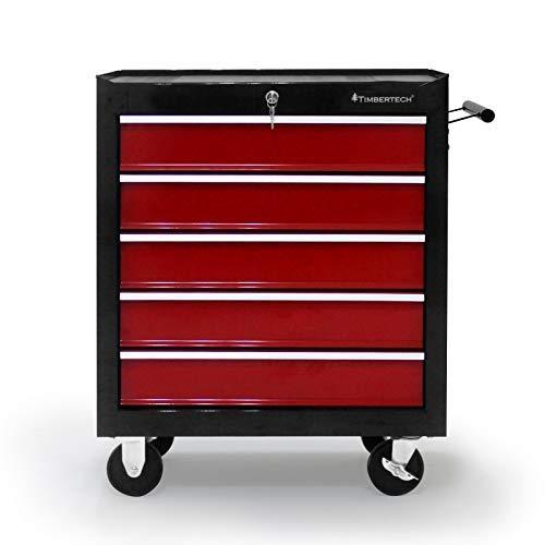 Werkstattwagen auf Rollen - leer, Schubladen mit Einlagen, abschließbar, Feststellbremse, aus...