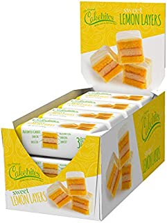 The Original Cakebites by Cookies United, Grab-and-Go Bite-Sized Snack, Sweet Lemon Layers, 12 Pack of 3 Cookies