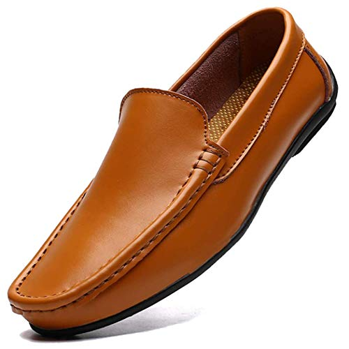 [MCICI] ローファー メンズ スリッポン ドライビングシューズ 本革 モカシン 2種履き方 手作り 通勤 紳士靴 ビジネスシューズ 軽量 革靴 通気 カジュアル 大きなサイズ 25.0CM