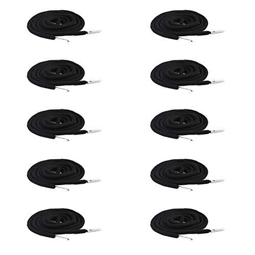 Demarkt 10er-Pack Ersatz-Kordelzug,mit 10 Stück Kunststoff-Schnurschlössern für Jogginghosen Shorts Kapuzenpullover und flexiblen Threader Universal Gurt für Jacken Badehose Tragetaschen Schnürsenkel