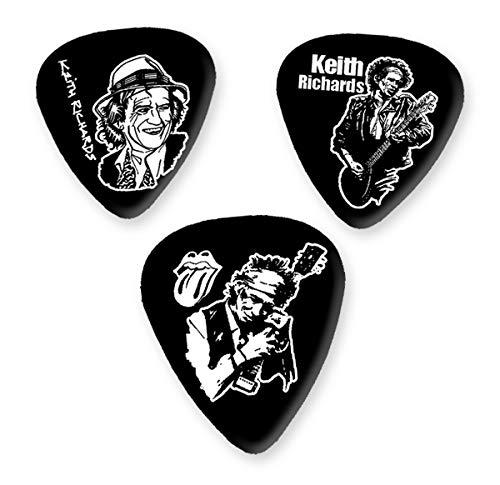 Keith Richards Rolling Stones 3 X Gitarre Picken Plectrums BWEG
