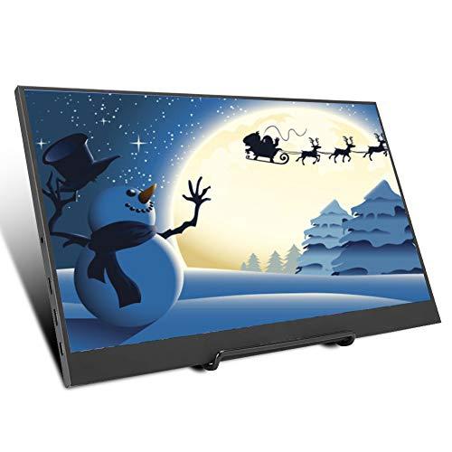 Draagbare gamemonitor, winnaar 15,6-inch draagbare gamingmonitor 1080P LED HD voor PS3 / XBOX / PS4 1920 * 1080 HDMI-monitor voor games, kantoor, design, cadeau voor kinderen