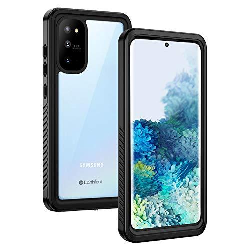 Lanhiem für Samsung Galaxy S20 Hülle, IP68 Wasserdicht Handyhülle 360 Grad Schutzhülle, Stoßfest Staubdicht und Schneefest Outdoor Panzerhülle mit Eingebautem Displayschutz für S20, Schwarz