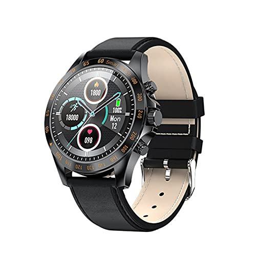 zyz LW09 Smart Watch, Pantalla Táctil Completa, IP68 Impermeable, Monitor De Ritmo Cardíaco, Reloj De Moda Deportivo Fitness,Negro
