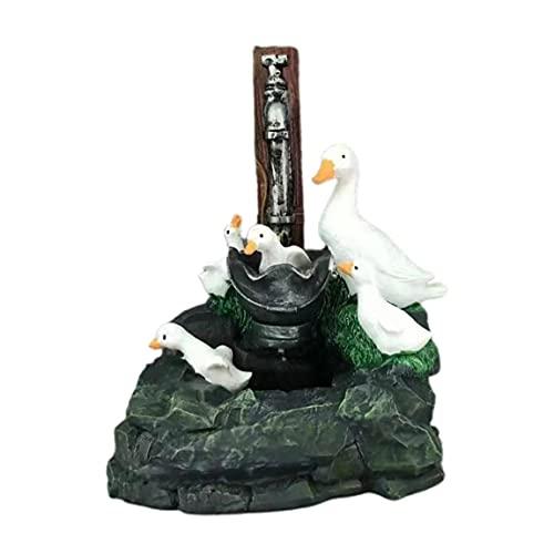 Wolfberrymetal Anatra Statua in Resina Figurine Artigianali Ornamenti Creativo Animale Fontana Statua Giardino Paesaggio Divertente Cortile Prato al Coperto All'aperto
