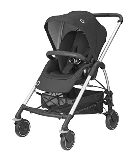 Bébé Confort 1379672210 Mya, kompakt und leicht, Kinderwagen Citadine, von Geburt bis 3, 5 Jahre (0-15 kg), Essential Black