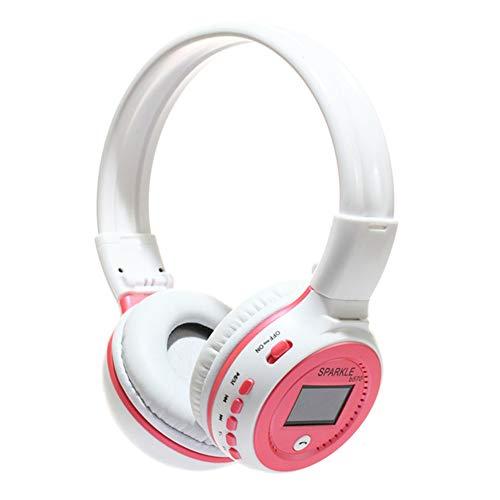 EPMR Hoofdtelefoon, draadloze sport bluetooth hoofdtelefoon, subwoofer kaart hoofdtelefoon, geschikt voor MP3 speler mobiele telefoon algemene hoofdtelefoon, size, roze