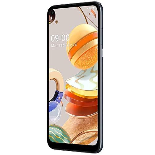LG K61 (128GB, 4GB) 6.53' FHD+, 48MP Quad Camera, 4000mAh Battery, Dual SIM GSM Unlocked US 4G LTE (T-Mobile, AT&T) International Model LM-Q630BAW (Titan, 64GB SD Bundle)