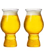 LIULIFE 480 ml frys ölglas, vete öl glas klar kopp, glas ölmuggar för hotell restauranger och barer, spill förebyggande koppar, set med 2