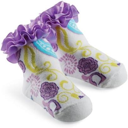 Mud Pie Princess Pam Purple Paisley Sock