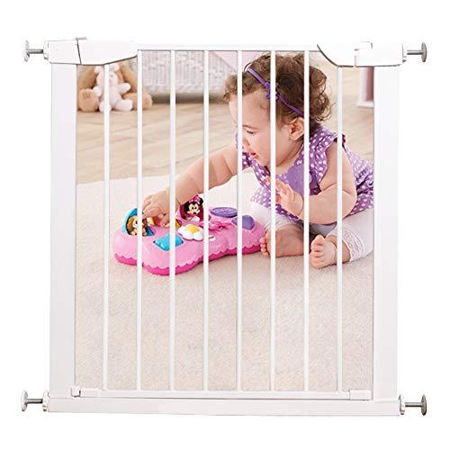 Trap veiligheidspoort & Lock Baby Gate, ideaal voor standaard of bredere trappen, schommels om zelf te vergrendelen, past 75-82cm breed