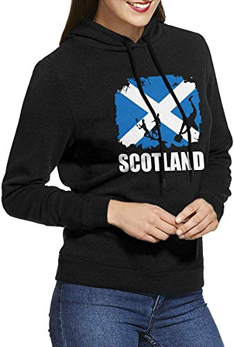 RtOnbra Women's Sweatshirt Scotland Flag Football Rugby Hoodies Without Pockets