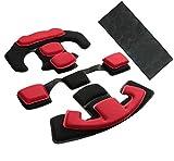 Almohadillas tácticas para casco Airsoft internas, espuma viscoelástica, almohadilla protectora amortiguadora, accesorios de forro para casco rápido MT MICH IBH AF ACH (rojo)
