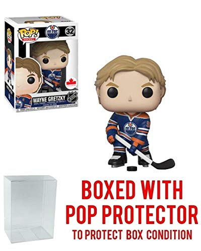 POP! Sports NHL Legends Wayne Gretzky Edmonton Oilers Canada Exclusive Action Figure (Bundled with Pop Box Protector to Protect Display Box)