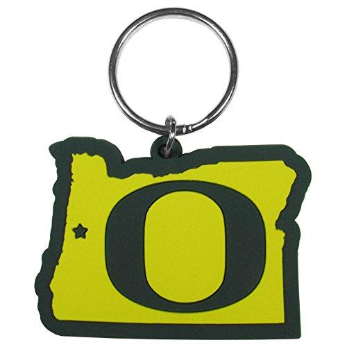 Siskiyou Sports Unisex NCAA Oregon Ducks Home State Flexi Key Chain, Green, Split Ring