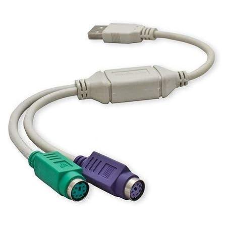 Cable para ratón y teclado, USB Macho a PS2 Hembra: Amazon.es ...