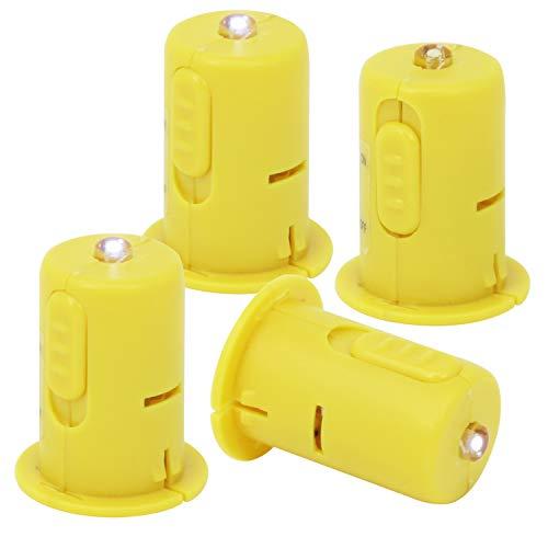 com-four® 4X LED Deko-Licht für Laternen und Teelichter - Elektrische Mini-Lampe für Lampions, Windlichter und zur Dekoration (04 STK - Laternenlicht)
