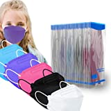 Sheal 50PCS Disposable 4-Layer Kids Face Masks Protection Breathable Comfortable 5 Colors for Kids (3-5 Years)