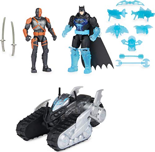 Bat-Tech Crawler with Batman and Deathstroke Action Figures