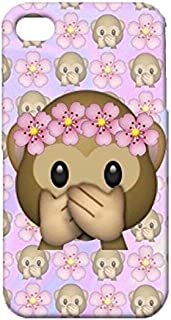 Iphone 4 4s Case,Cute Lovely Monkey Emoji Case,Premium Quality 3D Flexible Phone Case for Iphone 4 4s