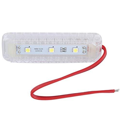 Luz de maletero impermeable fácil de instalar, luz de lectura de alta calidad resistente a altas temperaturas, PP para vehículo, automóvil, duradero, único