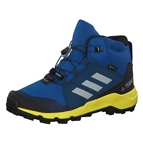 adidas Unisex-Kinder Terrex Mid GTX K Fitnessschuhe, Mehrfarbig (Belazu/Griuno/Amasho 000), 36 2/3 EU,4 UK