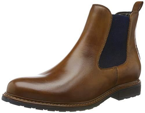 Tamaris Damen 1-1-25056-23 Chelsea Boots, Braun (NUT LEA./Blue 481), 40 EU