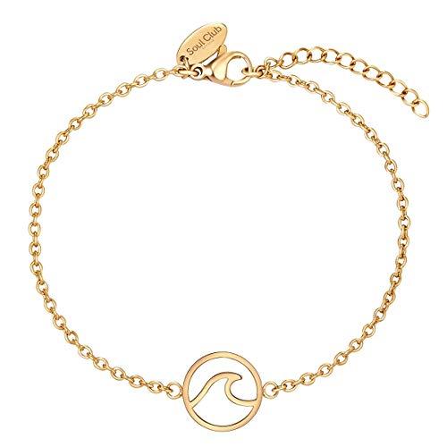 Soul Club Damen Armband Edelstahl gelbvergoldet