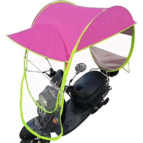 GPWDSN Universal Motor Scooter Regenschirm wasserdichte Mobilität Sonnenschutz Regenschutz Elektro Motorrad Baldachin Regenschirm, Pink